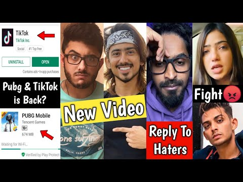 Pubg & TikTok is Back? Adnaan 07 & Carryminati New Video, Emiway Bantai, Shadab khan and Muskan