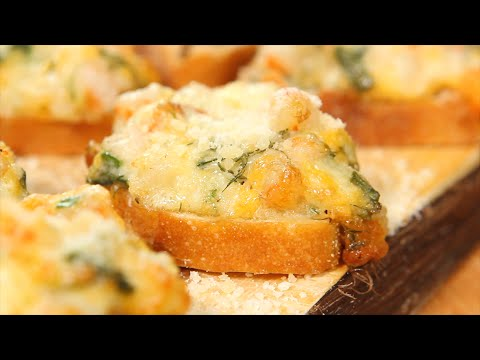 Cheesy Shrimp Crostini