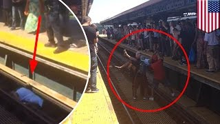 Straphanger gets burned saving fallen woman from electrified NYC subway