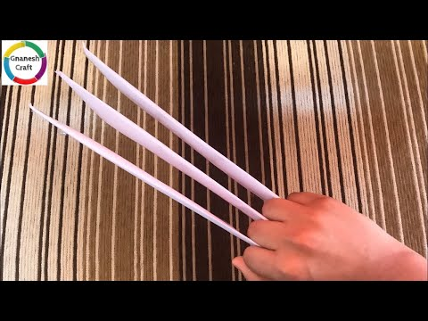 How to make a paper wolverine claws/Gnanesh craft
