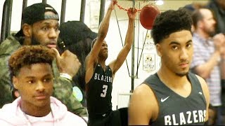 Lebron & Bronny get their FIRST LOOK at POWERHOUSE Sierra Canyon!