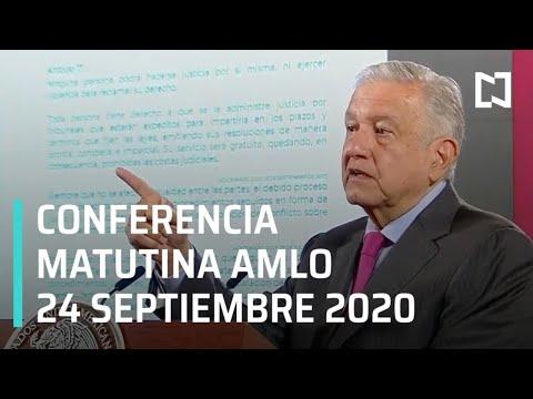 Conferencia matutina AMLO / 24 de septiembre 2020