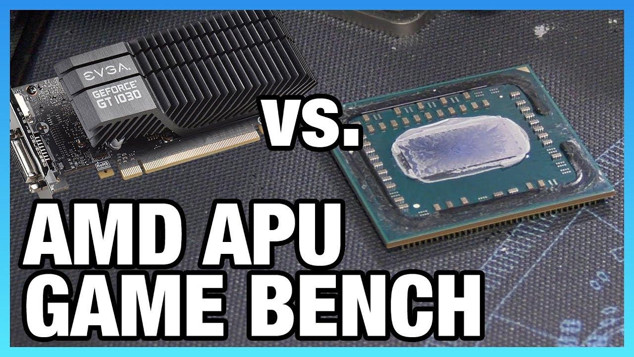 R3 2200G & R5 2400G vs  GT 1030 & Cheap CPUs | Game
