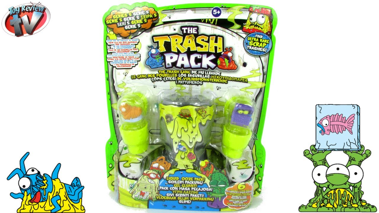 The Trash Pack Series 5 Liquid Ooze Pack Toy Review Moose  YouTube