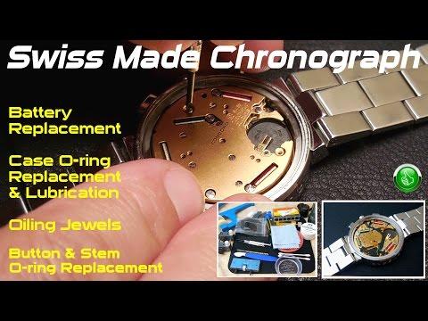 Swiss Chronograph Quartz Watch Maintenance/Service