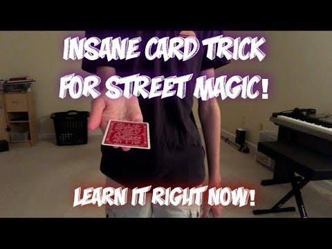 STREET MAGIC CARD TRICK! Hypnosis Advanced Card Magic Performance/Tutorial