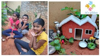 kids outdoor miniature cooking P-41 Tamil|outdoor miniature kitchen|clay set|soya fry|ini's galataas