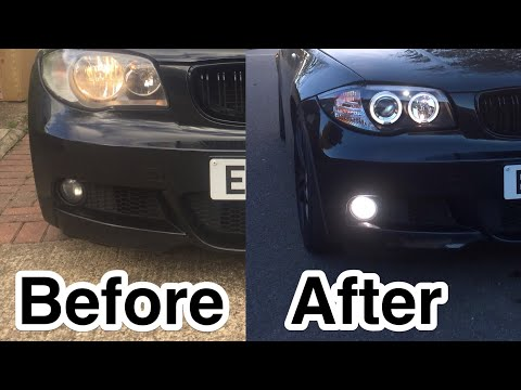 Installing Angel Eyes On BMW 1 Series E88 E87 E82 E81