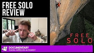 Free Solo (NATIONAL GEOGRAPHIC) - Popcorn Junkies (Nadia Sawalha & Family) Documentary Movie Review