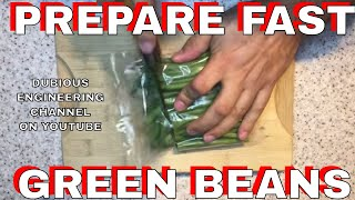 Engineering the perfect green beans!  11k views in a day! - SHORT