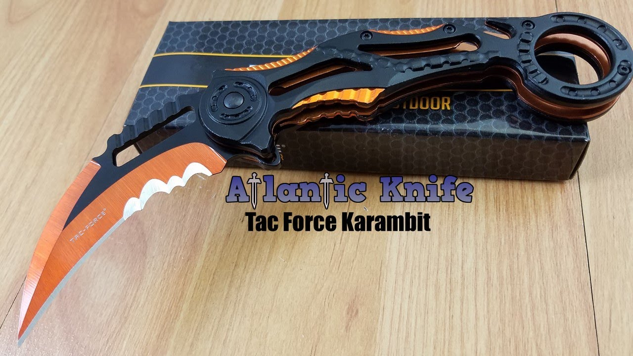 TAC Force Linerlock Assisted Opening Black