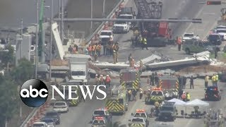 Several killed after pedestrian bridge at Florida International University collapses thumbnail