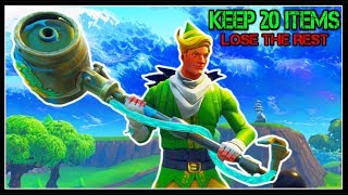 KEEP ONLY 20 ITEMS (Skins, Pickaxes, Gliders!) DELETE THE REST! | Fortnite Battle Royale!