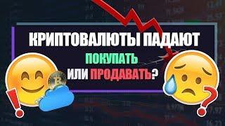 Криптовалюта падает. Что делать? Покупать или продавать?
