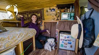 SOLO FEMALE Converts VAN into TINY HOME to TRAVEL