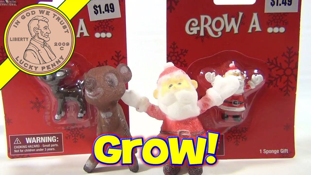 Grow A Santa and Rudolph the Red Nosed Reindeer Rankin Bass Look