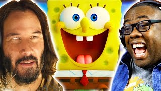 KEANU REEVES in the SPONGEBOB MOVIE? Sponge On The Run Trailer Reaction | Black Nerd