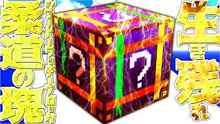 【Minecraft】柔道のラッキーブロック!?1スタック使い切るまで生き残れ!