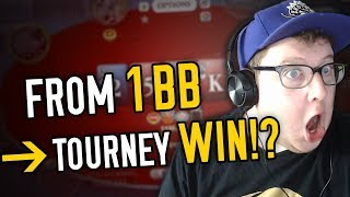 FROM 1 BIG BLIND TO WINNING A POKER TOURNAMENT (AGAIN!?)