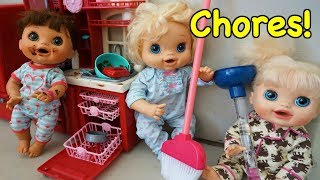 Baby Alive Chores Before School!