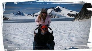 Juneau Alaska Helicopter dog sledding tour