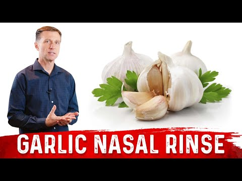 How to do a Garlic Nasal Rinse / Great for Chronic Year Around Sinus Congestion