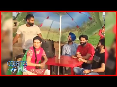 Parmish Verma & Ginni Kapoor Resham Anmol live on New Punjabi Song Shooting 2018 | Celebrities Talks