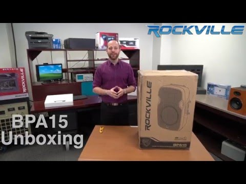 """Unboxing ROCKVILLE BPA15 15"""" PROFESSIONAL POWERED ACTIVE 800W DJ PA SPEAKER W BLUETOOTH"""