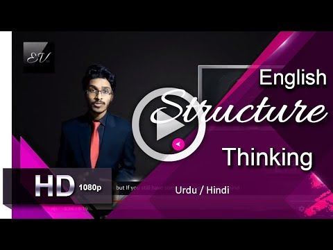 Thoughts (English Structure) Part 1-Thinking I English Learning Lessons [Urdu/Hindi]