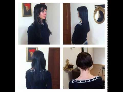 Наращивание волос на очень короткие волосы.