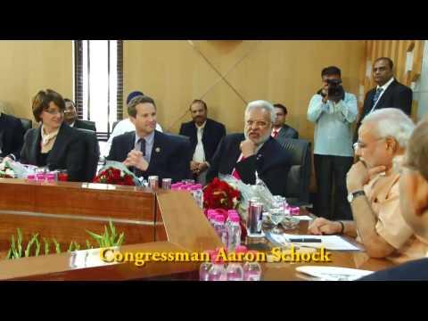 Congressman Schock introducing Mr. Shalabh (Shalli) Kumar as a Great US Ambassador at Large to India