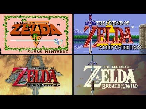 Evolution of The Legend of Zelda Intros HD (1986 - 2017)
