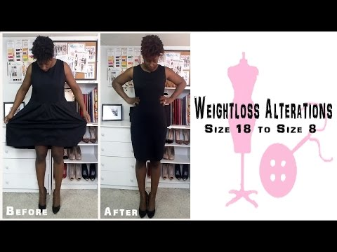How to alter a Size 18 dress into a Size 8 (Weight