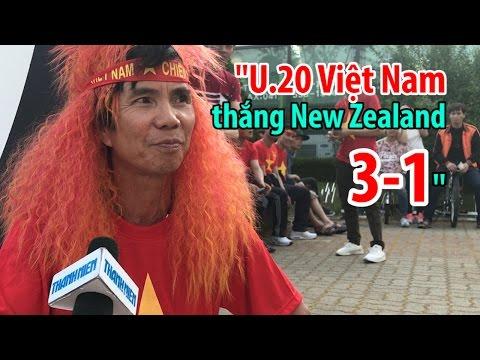 U20 Việt Nam thắng U20 New Zealand 3-1 ở World Cup, anh CĐV ở Hàn Quốc quá tự tin