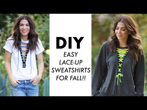 DIY: How To Make Easy LACE UP Sweatshirts For FALL! - By Orly Shani