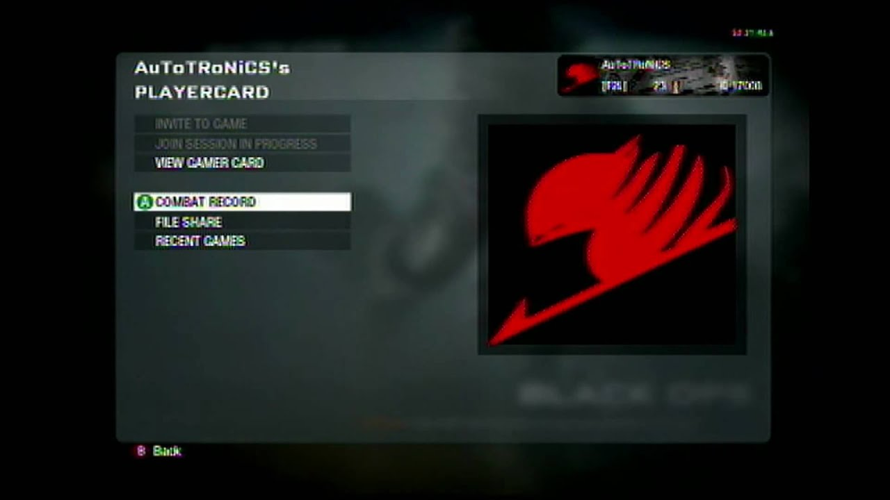 Black ops emblem fairy tail guild emblem youtube biocorpaavc Gallery