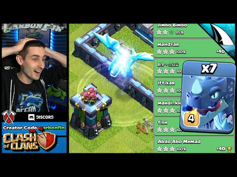 EDrag Death Saves The Triple?!? I've Never Seen This Before | Clash Of Clans