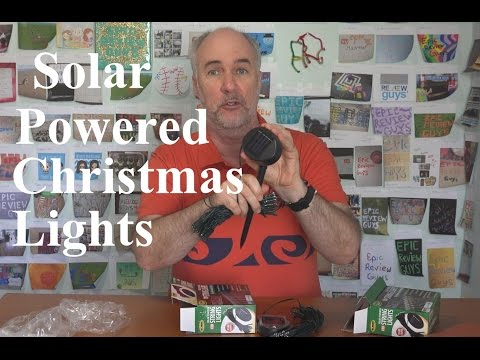 Solar Powered Christmas Lights Review- Part 1 | EpicReviewGuys in 4k
