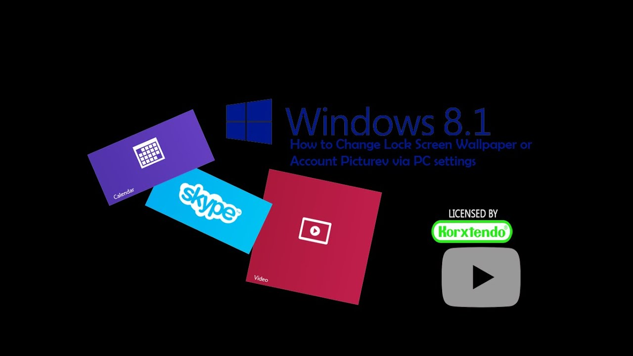 Windows 81 How To Change Lock Screen Wallpaper Or Account Picture Via PC Setting