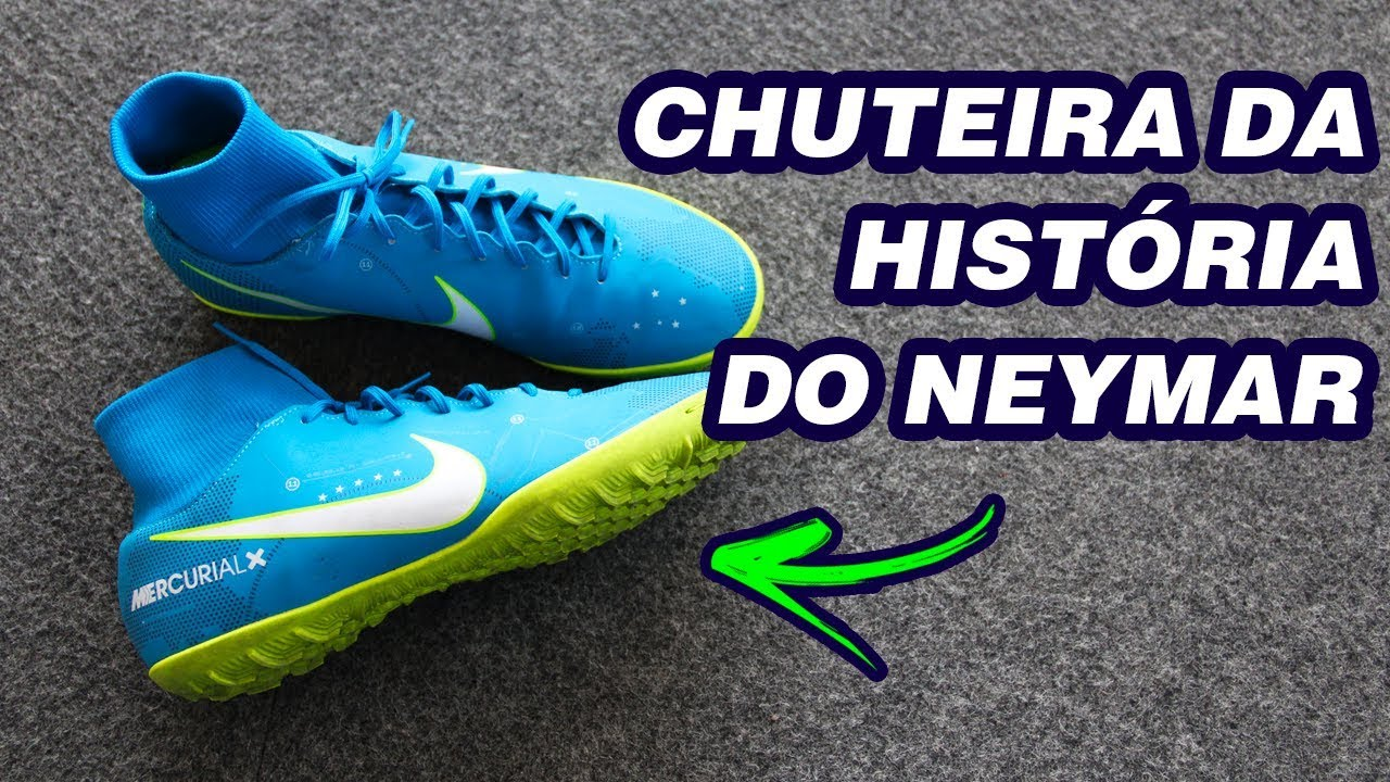 8f8c4230e4 NOVA CHUTEIRA DO NEYMAR - NIKE MERCURIALX REVIEW - YouTube
