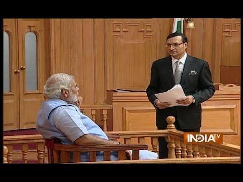 Modi makes fun of PM's remarks against him in Aap Ki Adalat