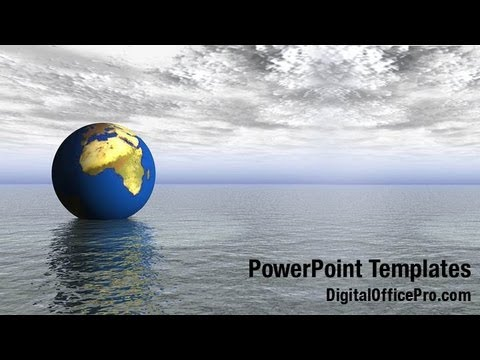 Nature Globe Powerpoint Template Backgrounds Digitalofficepro