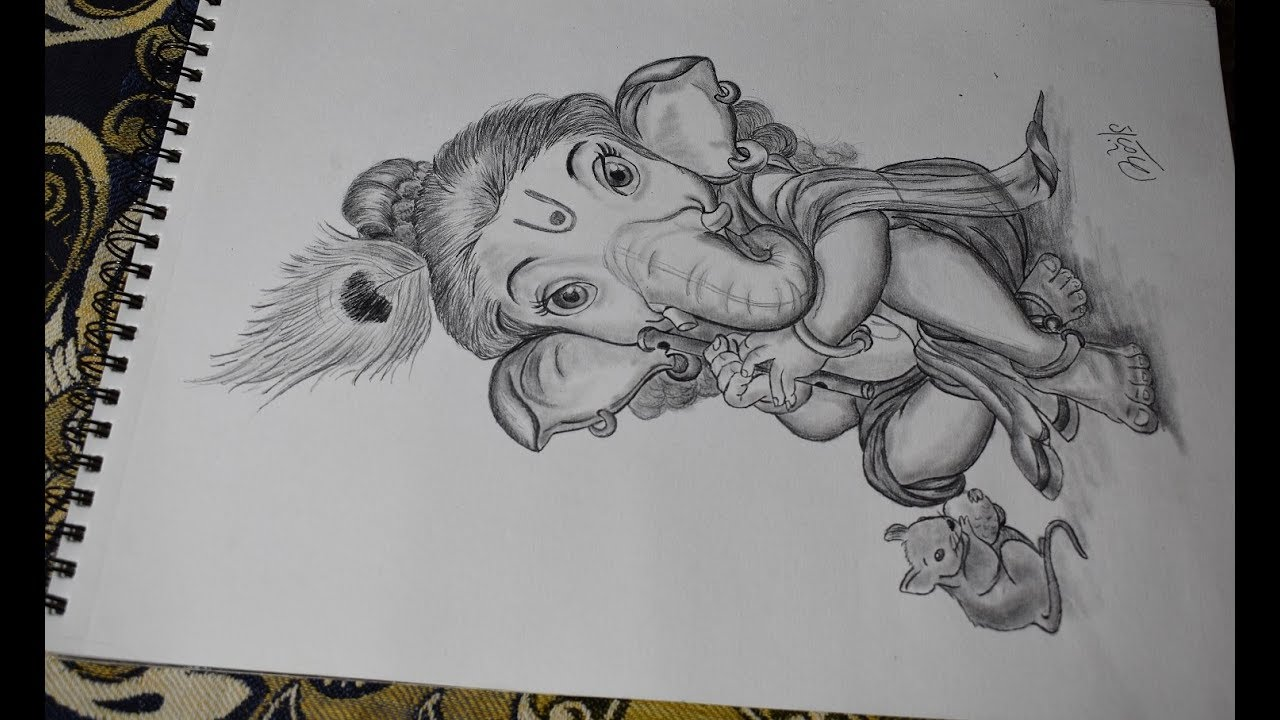 Ganpati sketch video best skech video sketching ganesh ganpati drawing tutorials