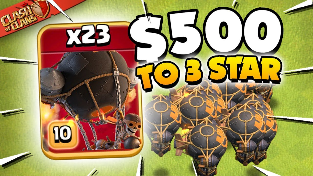 23 x Rocket Balloons to 3 Star in the $500 Challenge!