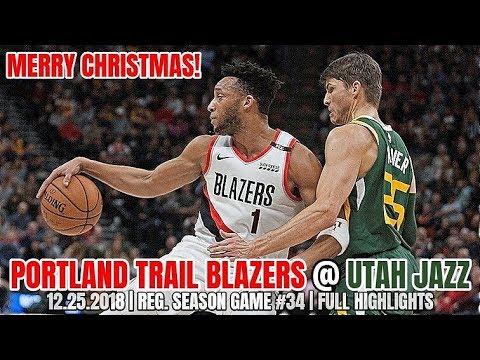 san francisco 4fd6f 9922f Portland Trail Blazers vs Utah Jazz- Full Game Highlights - Christmas Day  2018