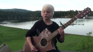 "Justin Bieber ""One Time"" by Carson Lueders, age 8, acoustic cover"