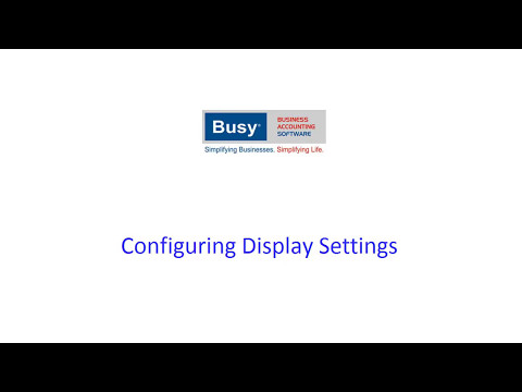 Configuring Display Settings in BUSY (Hindi)