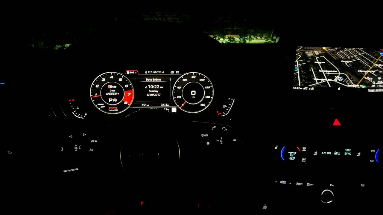hight resolution of audi a5 s5 sportback 2018 interior lighting at night w lighting plus package