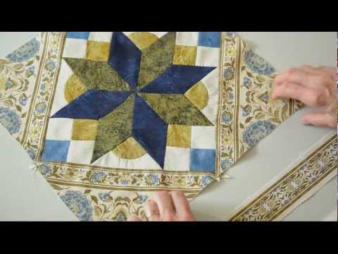 Framing a Quilt with Jinny Beyer Border Print Fabric