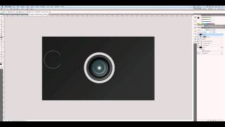 Create a Camera Lens Icon in Photoshop - Screencast